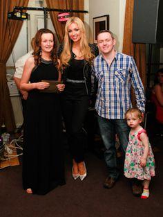 Sarah and Eoin with Rosanna Davison.