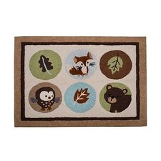 Carter's Forest Friends Rug at Kohl's $38 I just Want that FOX!!!!