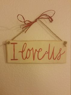 Valentine's Day I Love Us Rustic Wood Sign Wall Decor by BabyRaggz