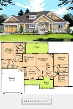 Cottage country craftsman ranch southern traditional house plan plan 39066st craftsman ranch design malvernweather Gallery