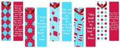 Free Printables~Dr. Seuss Bookmarks