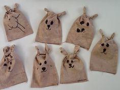 An idea on Tuesday: Brown Bear Hand Puppets