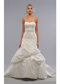 Theperfect Taffeta A-line Court Train Strapless Sleeveless Wedding Dresses - Wedding Dresses