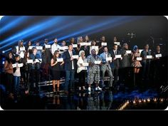 "Hallelujah - The Voice.  The coaches and artists pay tribute to the Connecticut shooting victims with Leonard Cohen's ""Hallelujah.""  Beautiful."