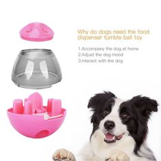 Soo Angeles Dog Food Dispenser Ball Toy Interactive IQ Treat Ball for Dogs and Cats Snacks Dispensing Feeder Tumbler Toy for Pets £¨Pink£ * Click on the image for additional information. (This is an affiliate link). Dog Feeder, Tumbler Designs, Find Pets, Medium Dogs, Dog Treats, Dog Toys, Dog Food Recipes, Pet Supplies, Pet Food