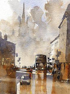 The Colinton Road No.2 Edinburgh by Iain Stewart  ~ 10 x 8
