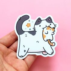 Cute Laptop Stickers, Cat Stickers, Funny Stickers, Totoro, How To Make Stickers, Funny Birds, Art Store, Sticker Shop, Easy Drawings