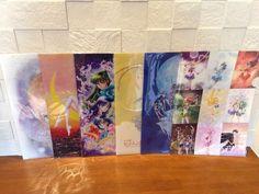 Sailor Moon Exhibition Japan Clear File Folder Set of 6 kawaii anime Stationary