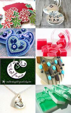 Christmas in July Handmade Love! See here: http://www.etsy.com/treasury/MTA0MjIzMDd8MjcyNDc0OTA1Mg/christmas-in-july-handmade-love #CIJ