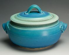 Handcrafted stoneware soup tureen or casserole by BlueParrotPots, $68.00