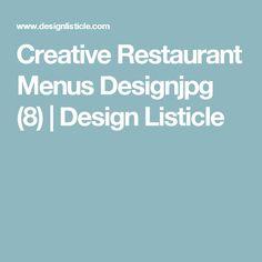 Creative Restaurant Menus Designjpg (8) | Design Listicle