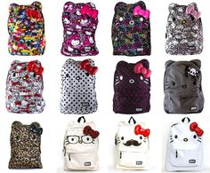 Hello Kitty back to school backpacks, book bags