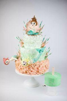 Vintage mermaid cake and matching smash cake I The Mischief Maker I Cakes