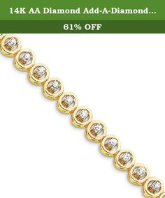 14K AA Diamond Add-A-Diamond Bracelet - X857AA. A stunning 14k aa diamond add-a-diamond bracelet. This 14k yellow gold add-a-diamond bracelets is a great addition to your jewelry collection. Please allow 5-10 business days for items to be created and prepared for shipping.