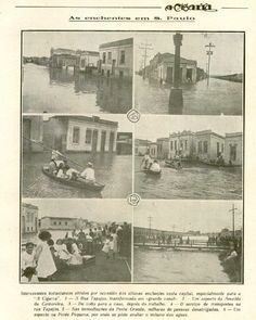 1919 - Grande Enchente - Vila Economizadora - A Cigarra - APESP
