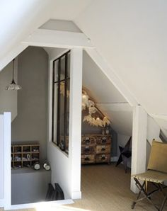5 Amazing and Unique Tricks: Tiny Attic Kids attic floor cottages.Attic Makeover Home Theaters attic entrance master bedrooms.Old Attic Sleep. Attic Loft, Attic Rooms, Attic Spaces, Garage Attic, Attic House, Attic Ladder, Attic Playroom, Attic Window, Window Wall