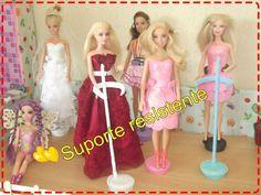 Como fazer suporte para Barbie e outras bonecas que não cai, super resis...
