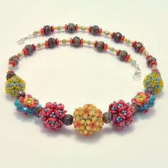 beaded jewelry patterns | Jewelry: Embellished Beaded Bead Necklace