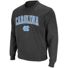 Stadium Athletic North Carolina Tar Heels Charcoal Arch & Logo Crew Pullover Sweatshirt