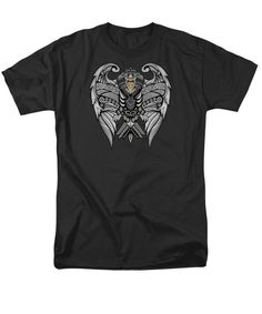 Aztec Mayan Eagle Pattern Man T-Shirt Available for @pointsalestore #tshirt #tee #clothing #aztec #pattern #vintage #blackwhite #ravenclaw #hawk #eagle #animal #bird #tattoo #mayan #indian #native