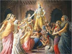 It is often held against Hinduism in general and Lord Krishna in particular that He had 16 000 wives. People whom I had met often had no idea about this and stated Lord Krishna had 16000 wives a… Krishna Leela, Jai Shree Krishna, Krishna Love, Krishna Radha, Hanuman, Lord Krishna Images, Krishna Pictures, Krishna Painting, Krishna Wallpaper
