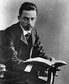 "August 2014 letter, LETTERS TO A YOUNG ARTIST, 'In Letters to a Young Poet, Rainer Maria Rilke - counsels a pen pal to ""have patience with everything that remains unsolved in your heart."" (image: the Austrian poet, Rainer Maria Rilke) Rainer Maria Rilke, Writers And Poets, Writers Write, Texte En Prose, Modernist Writers, Hermann Hesse, Book Writer, Playwright, German Language"