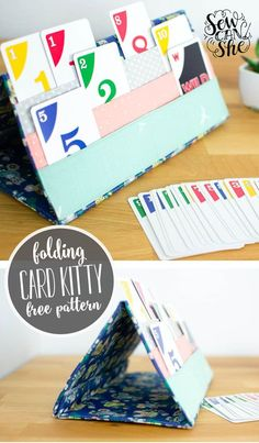 The Card Kitty (card holder for playing card games) - free sewing tutorial — SewCanShe | Free Sewing Patterns for Beginners