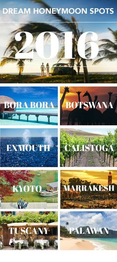 10 Dream Destinations for a Honeymoon #bucketlist #destinations #honeymoon #babymoon #wheretogo #inspiration #romantictravel