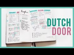 Bullet Journal: DUTCH DOOR | Qualcosa di Erre - YouTube