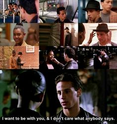 Omg...these scenes gave me the butterflies when I was younger. Still probably do! I love this movie! A Bronx Tale; Jane & Calogero (Taral Hicks & Lillo Brancato)