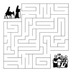 Mary and Joseph Search for Jesus - Maze