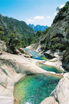 Restonica Valley in Korsika Frankreich - Travel and Extra Places Around The World, Travel Around The World, Around The Worlds, Places To Travel, Places To See, Travel Destinations, Wonderful Places, Beautiful Places, Beautiful Pictures