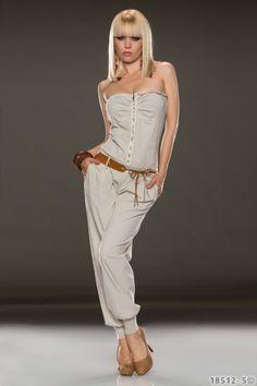 sexy Jumpsuit in verspieltem Design und Bandeau Oberteil Damenmode - online kaufen - traumshop2000.de
