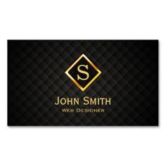 DJ Music Gold Diamond Monogram Deejay Business Card Dj Cards Lawyer
