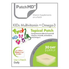 Share and save 10% off your first order! Kids Multivitamin + Omega-3 Patch (30-Day Supply) by PatchMD #BariatricPalStore