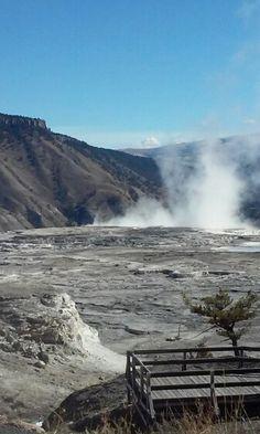 Hot springs Yellowstone Park.