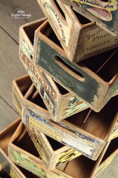 Vintage-Style Seed Boxes