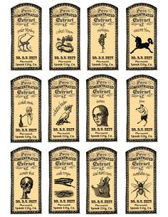 Image detail for -... Potions and Fantasy Apothecary Labels for Halloween Fun   redbudart