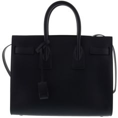 Pre-owned Saint Laurent Small Sac De Jour Leather Blue Black Tote Bag (65.380 CZK) ❤ liked on Polyvore featuring bags, handbags, tote bags, blue black, leather handbag tote, genuine leather handbags, leather tote handbags, summer purses and summer totes