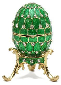 Romanov Egg Box at Maison Russe The Russian Shop Fabrege Eggs, Tsar Nicolas, Egg Crafts, Egg Art, Objet D'art, Egg Decorating, World Of Color, Art Object, Shades Of Green