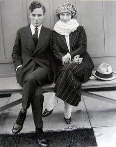 Charlie Chaplin and prima ballerina Anna Pavlova circa 1922