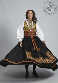 Beltestakk fra Telemark - BunadRosen AS Ethnic Fashion, Traditional Outfits, Norway, Bohemian, Culture, Pandora, Clothes, Costumes, Ladies Fashion