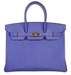 Onquestyle - Hermes Birkin Bleu Electrique (Blue) 35cm Epsom Leather Handbag GHW NEW, $22,995.00 (http://www.onquestyle.com/hermes-birkin-bleu-electrique-blue-35cm-epsom-leather-handbag-ghw-new/)