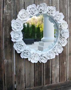 couronne / tour de miroir  en boite à oeuf