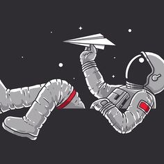Astronaut in space playing with a paper airplane ✈️ Astronaut Drawing, Astronaut Tattoo, Paper Airplane Drawing, Paper Plane, Beautiful Landscape Wallpaper, Astronauts In Space, Airplane Art, Trendy Wallpaper, Painted Paper