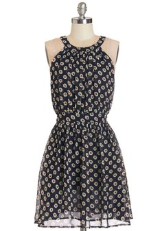 Set Up Flower Shop Dress. The colorful bouquets at your roadside flower stand are a beautiful sight, but its you greeting customers in this navy dress that receives the most compliments! #blue #modcloth