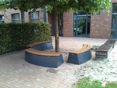 Boombank DeLuxe Antraciet Ovaal bij LWL-Förderschule in Reken