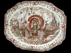 Johnson Brothers turkey platter, early 20th century. What a treasure!