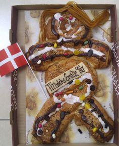 Danish birthday cake - en kagemand, from the blog entry Let them eat (Danish) cake (man)! – Diane's Daily Denmark