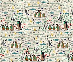 Penguins fabric by susan_polston on Spoonflower - custom fabric